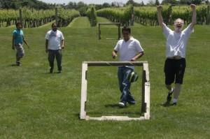 Roman & crew at soccer. Goal!