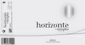 Etiqueta horizonte blanco