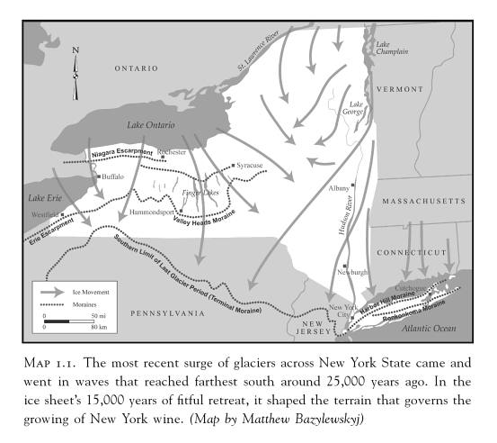 Map of NY State glcial movement