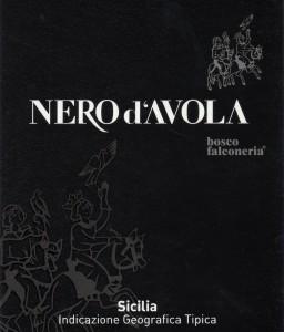 Bosco Nero d'Avola label